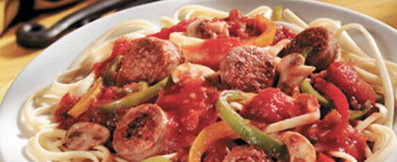 pasta-sauage